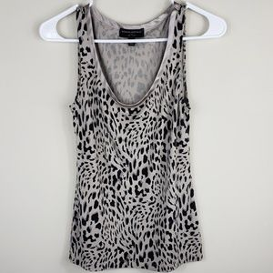 Banana Republic | Animal Print Luxe Touch Tank Top